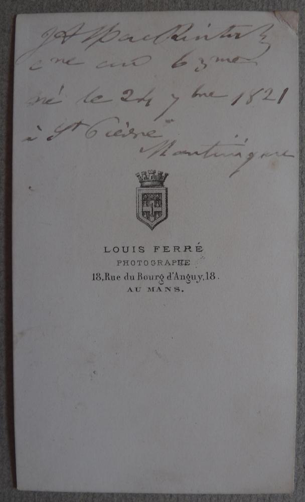 Photo Carte De Visite Cdv Militaire Medaille Au Mans Vers 1860
